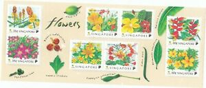 """SINGAPORE, 1997, """"SINGAPORE FLOWERS"""" S/S MINT NH FRESH IN GOOD CONDITION"""