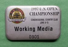 "1997 US Open Golf Championship ""Working Media"" Pin Tiger Woods"