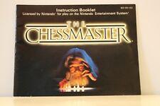 Chessmaster NES Video Game Manual Instructions Nintendo