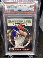 2020 Bryce Harper Finest Flashbacks #186 - PSA 10 - Philadelphia Phillies
