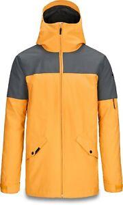 Dakine DENISON 10K Mens Snowboard Ski Jacket Large Goldenglow Slate NEW Sample