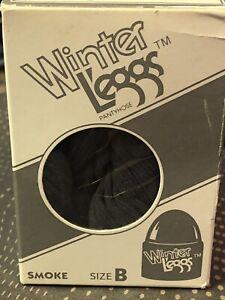 New L'eggs Winter L'eggs Pantyhose Size B Charcoal Smoke Gray