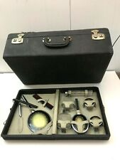 Art Deco Duplex Vanity Set Travel Suitcase 1940s Perfumes Jars Bottles Mirror +
