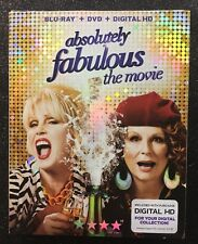 Absolutely Fabulous: The Movie  (Blu-ray+DVD+Digital HD, 2016) NEW w/ Slipcover