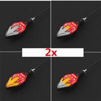 Universal Motorrad LED Blinker Sequentiell LAUFEFFEKT mit Bremsrücklicht 12V 2x