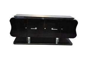Curved Art Deco Credenza or Sideboard