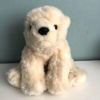 """Keel Toys Polar Bear Soft Toy Plush 8"""" Tall Soft Cream Coloured"""