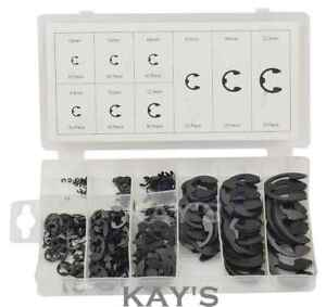 E CLIP ASSORTMENT 300 PIECE SET 1.6MM TO 22.2MM EXTERNAL CIRCLIP RETAINING RING