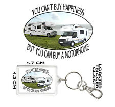 MOTORHOME GIFT KEYRING You Can't Buy Happiness But You Can Buy A MOTORHOME. GIFT