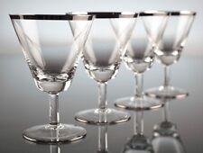 4 Vintage Süßweingläser Rosenthal 2000 Richard Latham 50er Gläser Platinrand K36