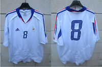 VINTAGE Maillot Equipe de FRANCE Adidas shirt n°8 away shirt double couche XXL