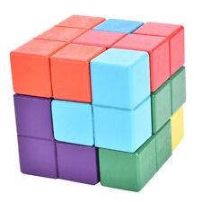 Intelligence Cube Lock Wooden Kongming Luban Lock Brain Teaser Puzzles Toy liau