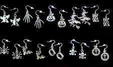 BUY 3 GET 1 FREE~HALLOWEEN DANGLE EARRINGS~925 STERLING SILVER HOOK~YOU PICK