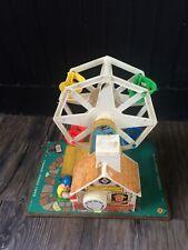 Vintage 1966 Fisher Price/Little People, Music box, Ferris Wheel. Works!