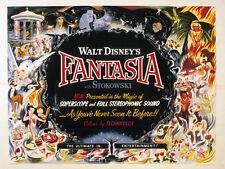Fantasia (1940) Mickey Mouse Walt Disney Dibujos Animados Película Cartel Póster