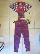 Juniors Baby Phat Outfit Batwing Sweater & Straight Leg Jeans Purple Sz. 7