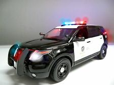 1/18 Scale LAPD Los Angeles POLICE PI SUV FORD RARE uT WORKING LIGHT