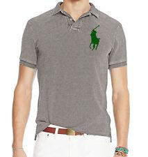 Polo Ralph Lauren Mens Big Pony Logo Slim Tailored Fit Short Sleeve Button Shirt