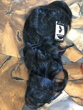 Long Black Curly Synthetic Hair Wig With Bangs