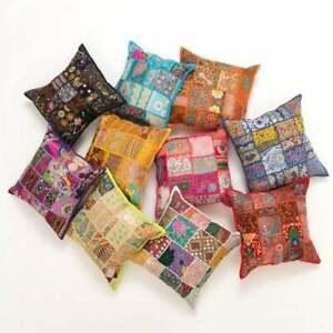 New Year Indien handmade khambadia Multi Home Decor Cushion Cover Ethnic 50Pc