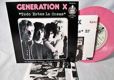 """Generation X Todo Estas Cosas 7"""" EP 100 Pink, EMPIRE BILLY IDOL WESTWORLD NEW"""