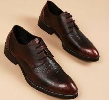 Chic Mens Cuban Heel Leather Casual Business Dress Oxfords Shoes Lace Up