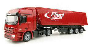 modellino Mercedes Benz truck Camion Con Rimorchio Fliegl 1:50  Die-cast Siku