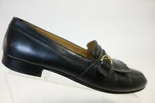 BALLY Black Sz 9.5 D Men Tassel Buckle Loafers