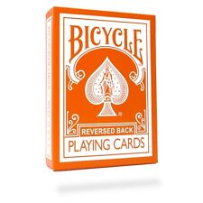 Orange Reversed Back Deck Bicycle Playing Cards Poker Size USPCC + Magic Tricks