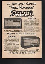 N°7816 ter / grand dépliant  SONORA  poste VM  VII et VIII