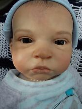 "Detailed Rare Realistic 21"" Reborn Baby Doll Danny was Diana by Olga Auer Resell"