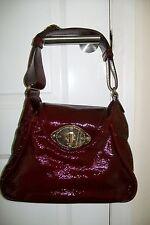 ESCADA-burgundy patent leather hand/shoulder bag.Medium.Dustbag.Slightly used.