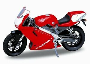 CAGIVA Mito 125 - red / white - WELLY 1:18