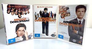 Arrested Development : Seasons 1, 2 & 3 (DVD 8 Disc Set) Jason Bateman FREE POST