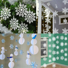 3m 3D Snowflakes Cardboard Hanging Ornaments Christmas Holiday Home Decor