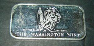 American Flag, The Washington Mint 1 Ounce .999 Silver Art Bar