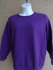 Just My Size 2X Cotton Rich Fleece Lined Crew Neck L/S Sweatshirt Purple