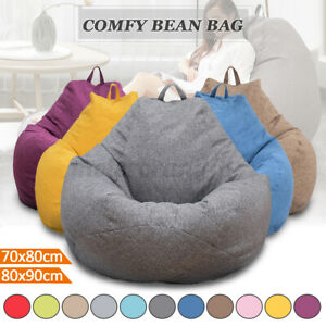 Large Bean Bag Chairs Couch Sofa Seat Cover Indoor Lazy Lounger for Adults Kids