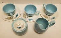 Vintage Paden City Pottery Tea Set Cream Sugar Cups Biscayne Mid Century Modern