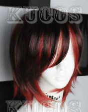 """New Rwby""""red"""" Trailer Ruby Rose Short Brown Red Mix Cosplay Wig  Free Shipping*"""