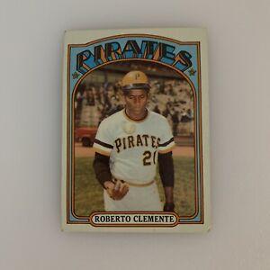 1972 Topps Roberto Clemente # 309 Baseball Card Pittsburgh Pirates MLB HOF Bob