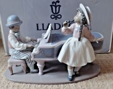 LLADRO - JAZZ DUO - BOY & PIANO WITH GIRL SINGING - 5930 - BOXED - EXCELLENT