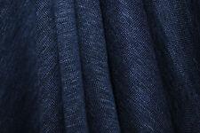 "100% Linen Jersey Knit Fabric By Yard  Semi Sheer highend fabric 60"" Wide Azulon"
