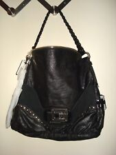 GUESS BY MARCIANO DREAM BLACK LEATHER TOP ZIP TOTE PURSE NWT !!!