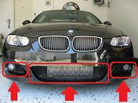 BMW 3 SERIES E92 E93 M SPORT 07-11 GENUINE FRONT BUMPER LOWER GRILL MESH SET