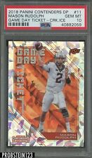 2018 Panini Contenders Game Day Ticket Cracked Ice Mason Rudolph RC /23 PSA 10