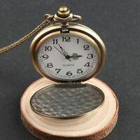 unisex - retro bronze quarz schmuck halskette anhänger taschenuhr