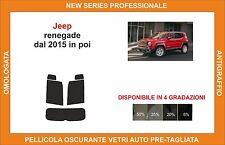 pellicola oscurante vetri pre-tagliata Jeep renegade dal 2015 in poi kit post
