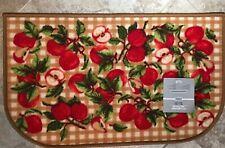 "Kitchen Rug Red Apples 18"" X 30""  100% Nylon Non-Skid Rubber Back Vivid Colors"
