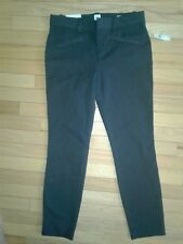 Women Mid Rise Two-Way stretch Skinny Ankle Pants Dark Gray-size 14
